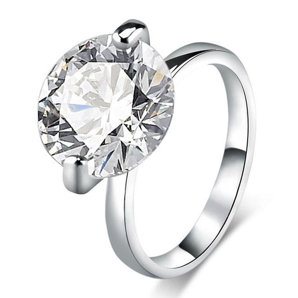 Cubic Zircon White Engagement Ring