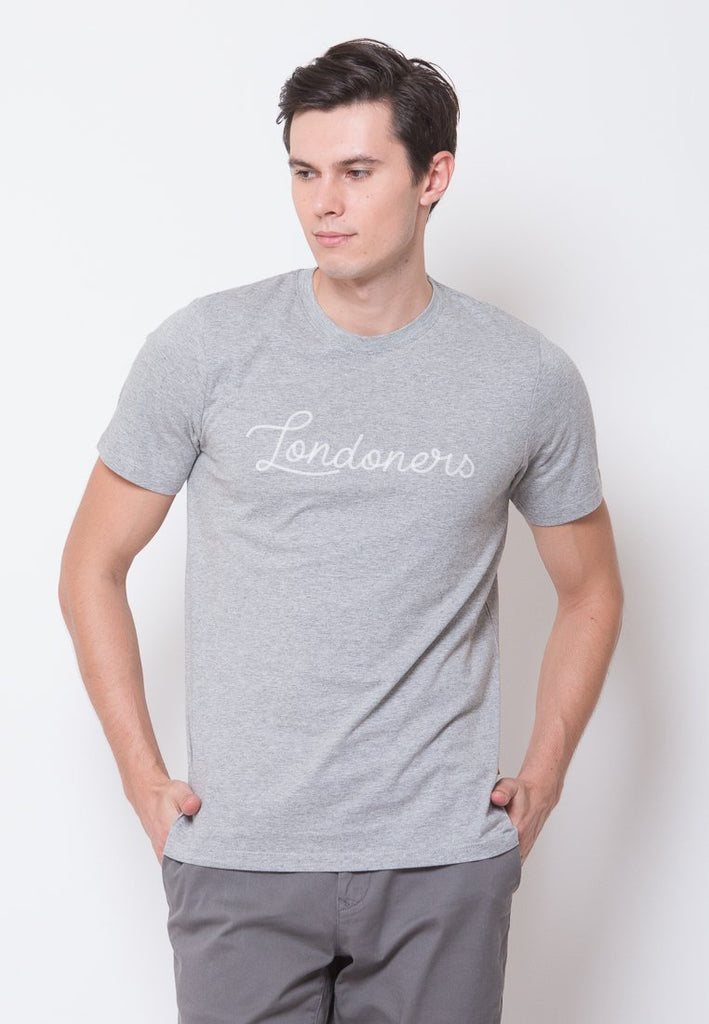 Londoners Embroidered T-shirt in Grey - Skelly Indonesia - The Original Graphic Tees, Comfortable Basic - www.skellyshop.co.uk
