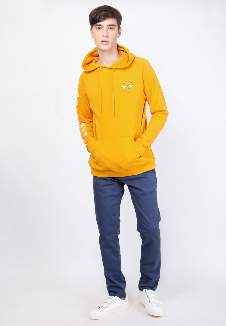 Ace Face Sweatshirts Hooded in Yellow