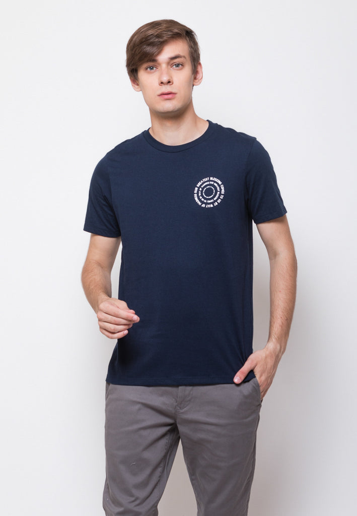 Mod Scan Graphic T-shirt in Navy - Skelly Indonesia - The Original Graphic Tees, Comfortable Basic - www.skellyshop.co.uk