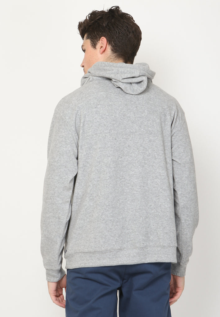 Royal Guard Line Art Hooded Pullover in Grey