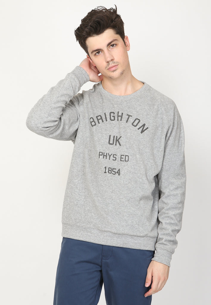 Brighton Phys Fleece Sweatshirt in Grey
