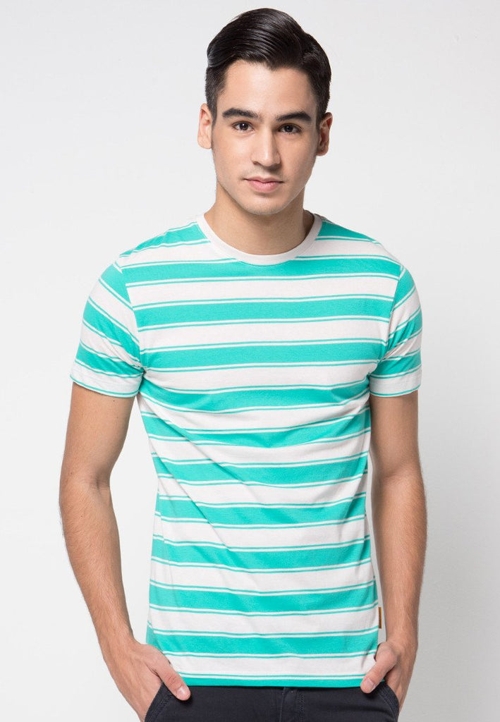 Surf Stripe T-shirts in Green - Skelly Indonesia - The Original Graphic Tees, Comfortable Basic - www.skellyshop.co.uk