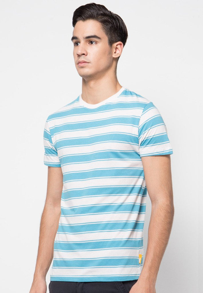 Surf Stripe T-shirts Blue - Skelly Indonesia - The Original Graphic Tees, Comfortable Basic - www.skellyshop.co.uk
