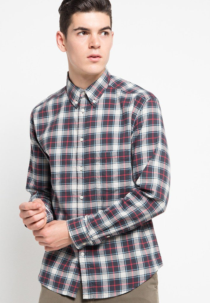 Billy Plaid Check Shirt - Skelly Indonesia - The Original Graphic Tees, Comfortable Basic - www.skellyshop.co.uk