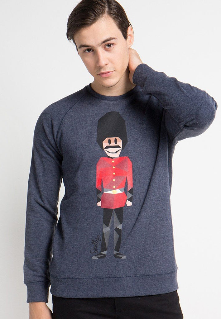 Royal Guard MMIX Pullovers in Misty Navy - Skelly Indonesia - The Original Graphic Tees, Comfortable Basic - www.skellyshop.co.uk