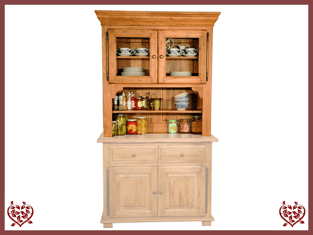 HERITAGE OAK CABINET TOP ONLY – 2 DOORS - paul-martyn-furniture