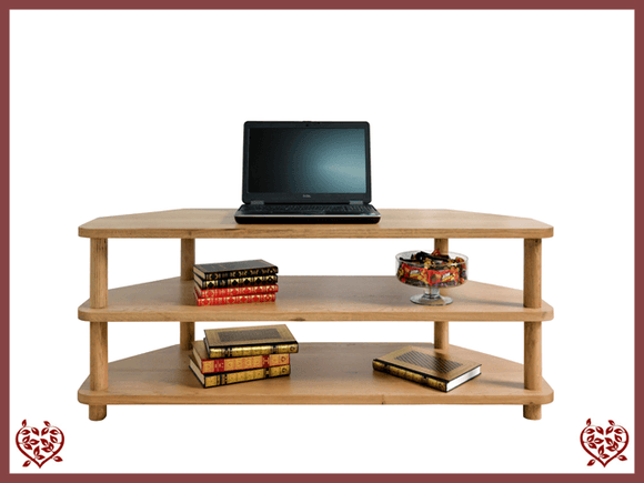 ARTISAN OAK OPEN CORNER TV UNIT - paul-martyn-furniture