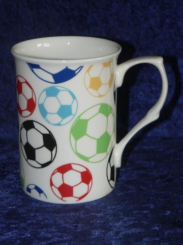 Footballs bone china mug