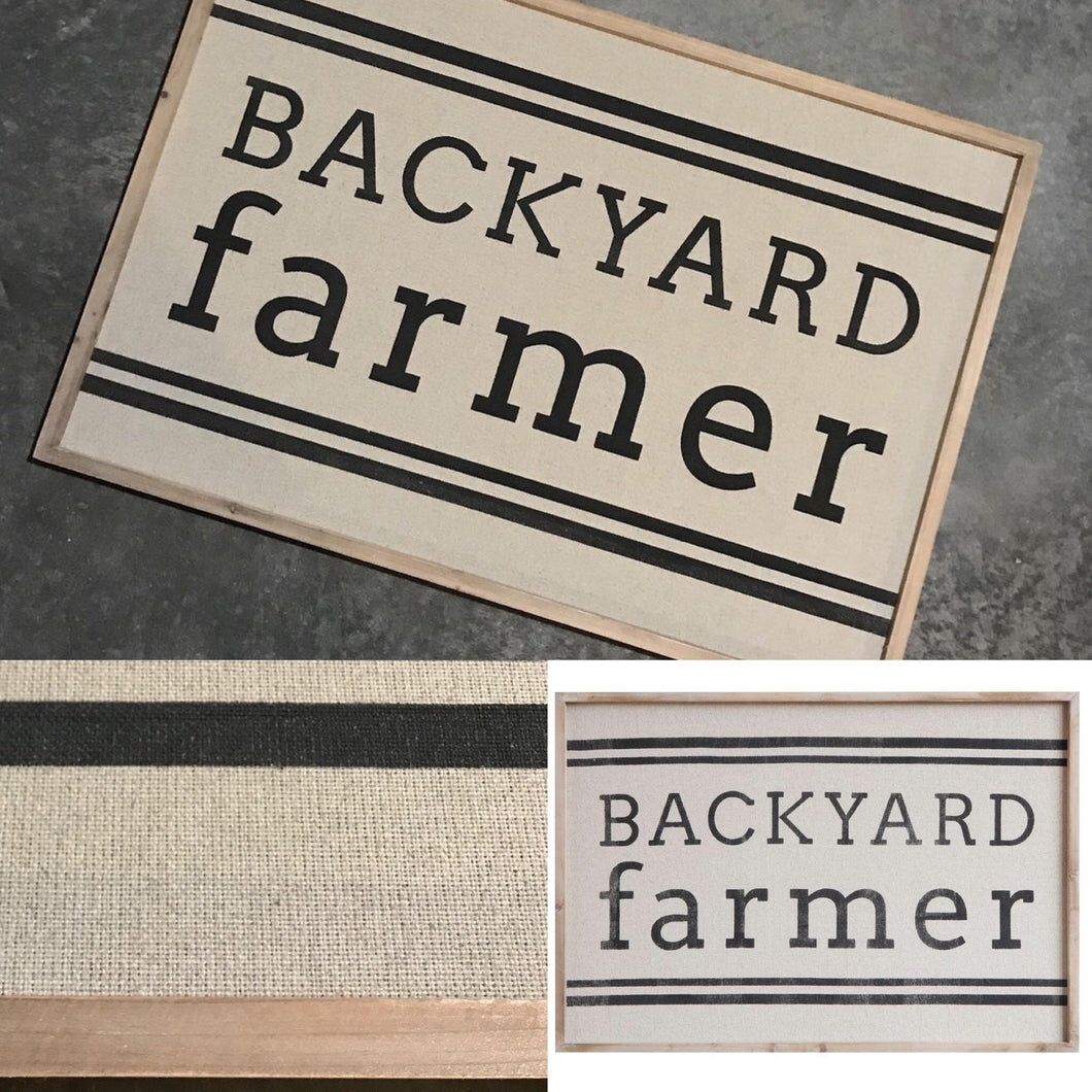Backyard Farmer Wall Decor Sign