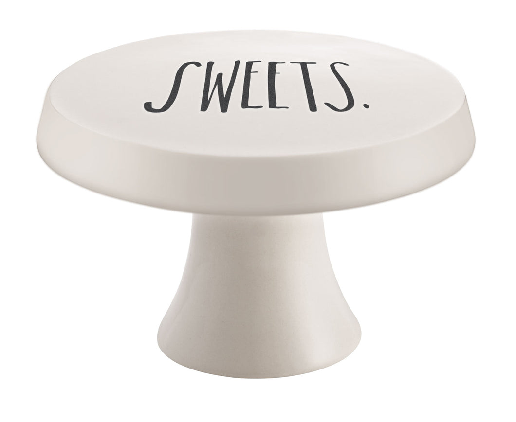 New Rae Dunn Stem Print SWEETS Cake Stand