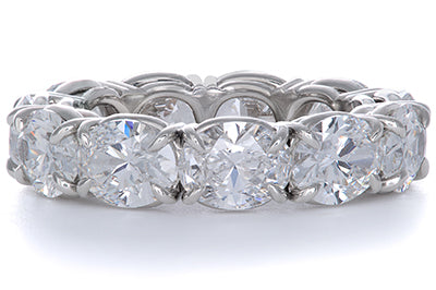 Oval Diamond and Platinum Eternity Band