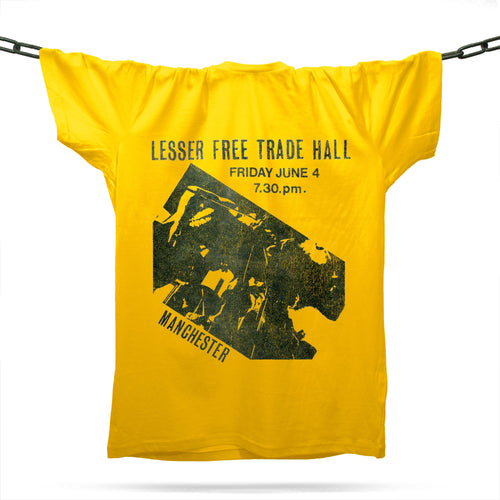 Lesser Free Trade Hall T-Shirt / Gold - Future Past Clothing