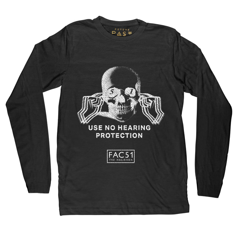 Official Hacienda FAC51 Collaboration Long Sleeve T-Shirt / Black - Future Past Clothing