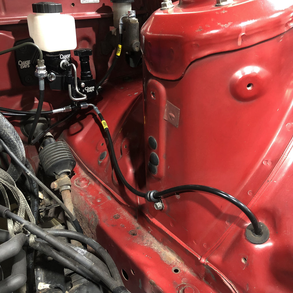 Chase Bays Brake Line Relocation - Mazda RX-7 FC for BBE