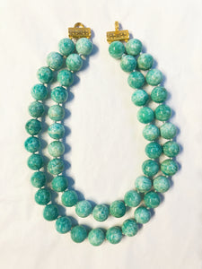 Amazonite Double Strand Necklace, Jaded Jewels