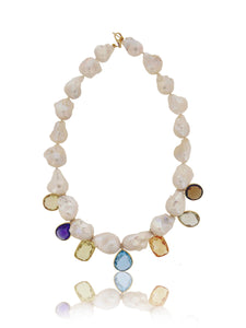 Multi Semiprecious Color Stones Necklace