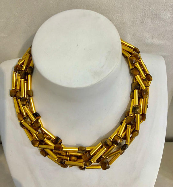 Seven Strand Tiger Eye Necklace
