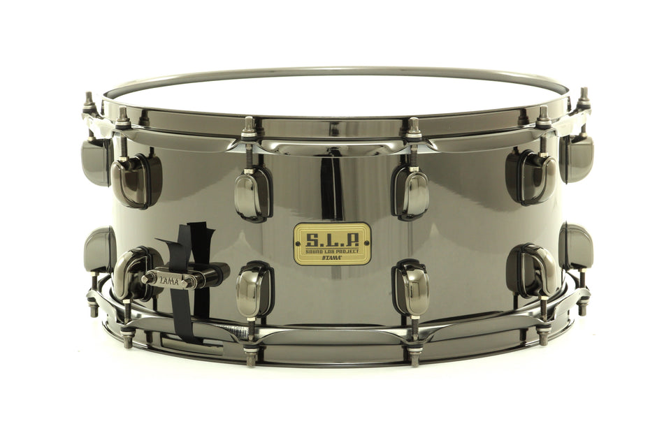 "Tama 14"" x 6.5"" Black Brass S.L.P. Snare Drum Black Nickel Over Brass"