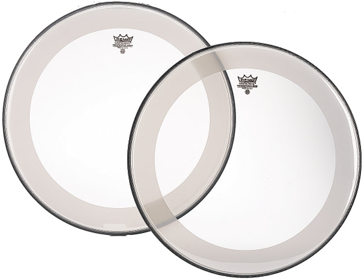 "Remo 22"" Clear Powerstroke 4 Bass Drum Head With Falam Patch"