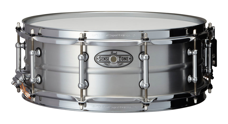 "Pearl 14"" x 5"" SensiTone Beaded Seamless Aluminum Snare Drum"
