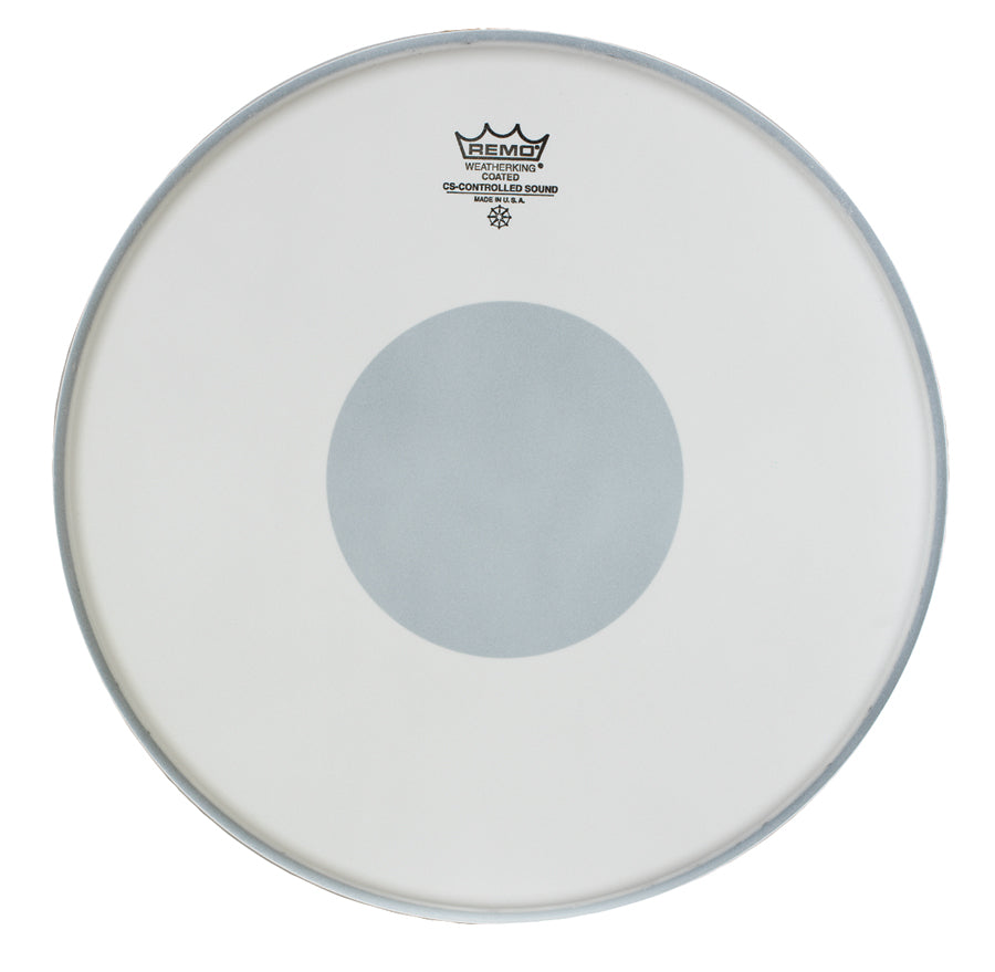 "Remo 15"" Coated Controlled Sound Drum Head With Black Dot"