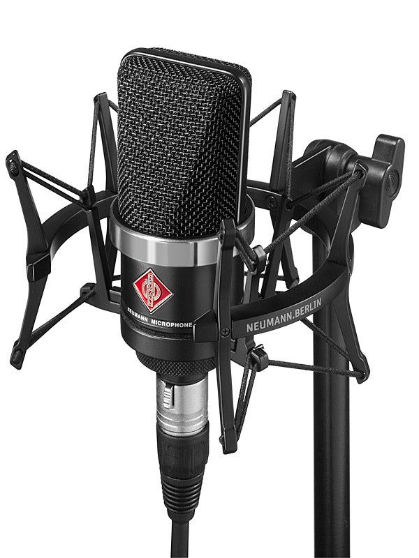 Neumann TLM 102 Studio Set Cardioid Condenser Microphone With EA4 Mount And Carton - Black