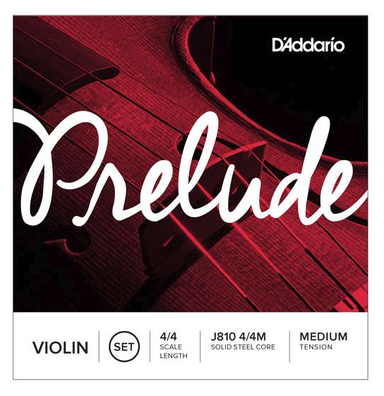 D'Addario Orchestral J810 Prelude Violin String Set - 4/4 Scale, Medium Tension