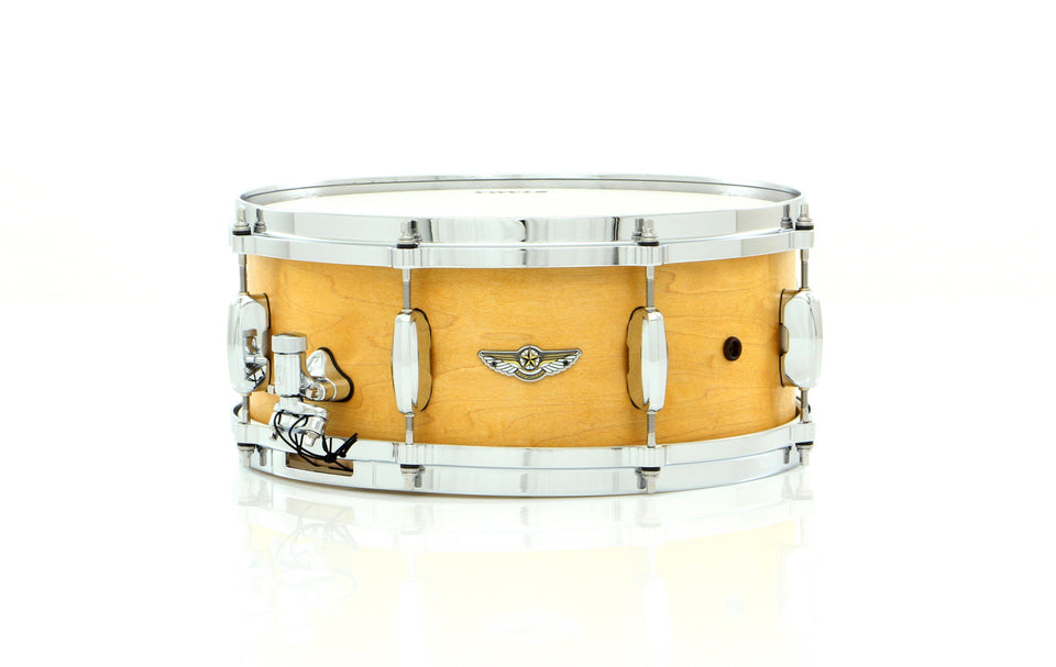 "Tama 14"" x 6"" STAR Solid Maple Snare Drum Oiled Natural Maple W/ Inlay"