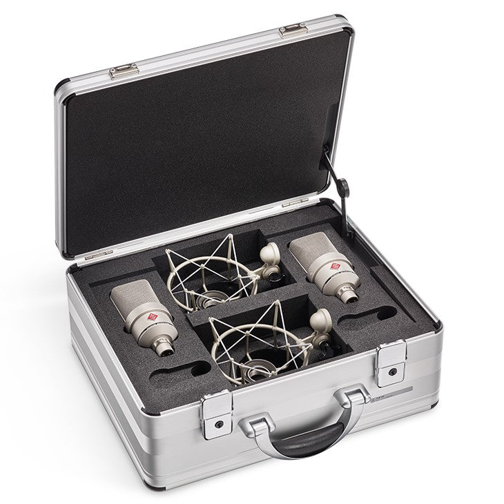 Neumann TLM 103-Stereo Condenser Microphones w/ EA1 Shockmount & Aluminum Case - Nickel