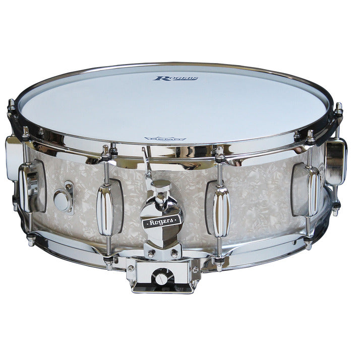 "Rogers 14"" x 5"" Dyna-Sonic Classic Snare Drum - White Marine Pearl"