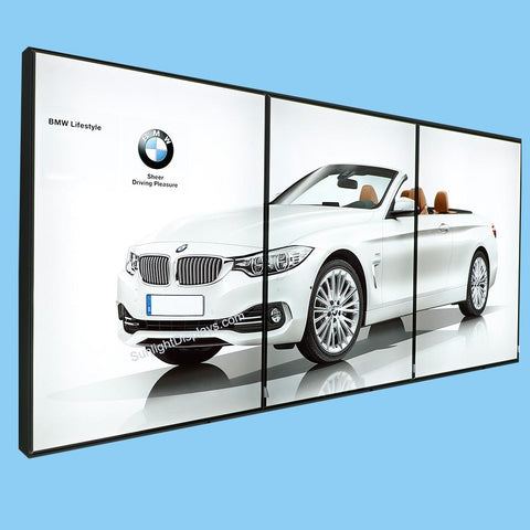 "18x24 Inches Illuminated Backlit Movie Poster Frame, LED Backlit Box for Showroom Window Shop and Tradeshow Event, 1.57"" Thick, Wall Mounting and Hanging, w/ Printed Poster"