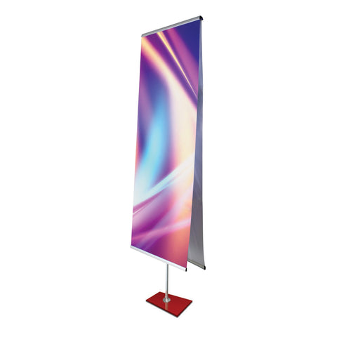 "Rainbow, 31.5"" Telescopic Double Sided Banner Stand with Padded Carry Bag, Red"