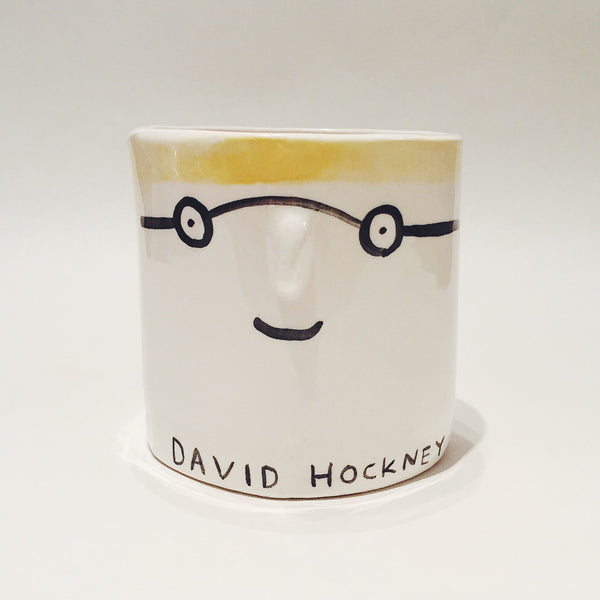 David Hockney pot by Alex Sickling