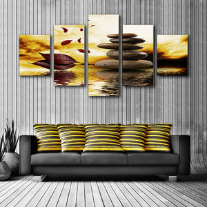 "5 Pieces Decorative 3D Painting ""Stones Balance"""