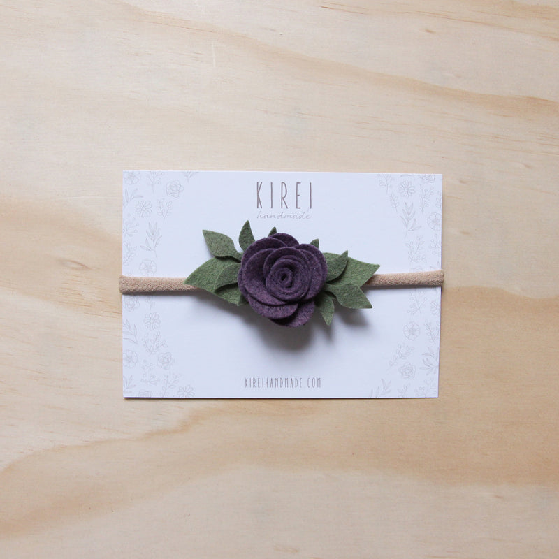 Baby Rose headband or hair clip - fig