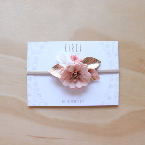 Neutral Luxe petite headband/ hair clip