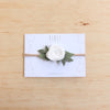 Baby Rose headband/hair clip - Mist grey