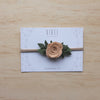 Baby Rose headband/hair clip - Cinnamon