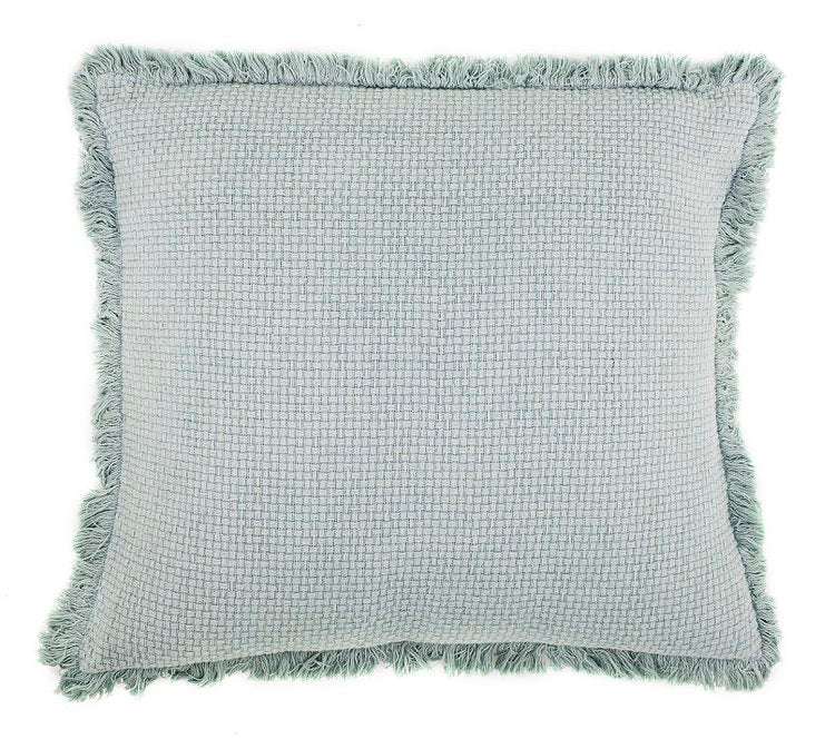 Eadie Lifestyle - Chelsea Cushion with Fringe 50x50cm - Sea Mist