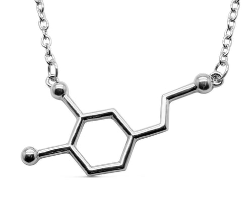 Dopamine Molecule Necklace available in 3 colors