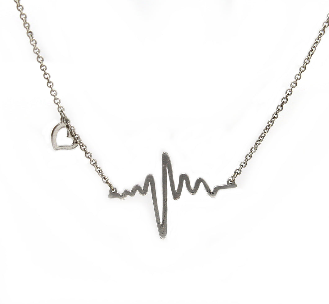 EKG Heartbeat Necklace Chain made of high quality alloy