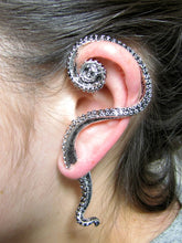 One Octopus Ring and One Octopus Ear Cuff | inspired by Lord Cthulhu | Ring made of 925 Sterling | Ear Cuff made of high quality Alloy
