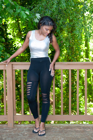 ATLWOOD Ripped Leggings (Black)