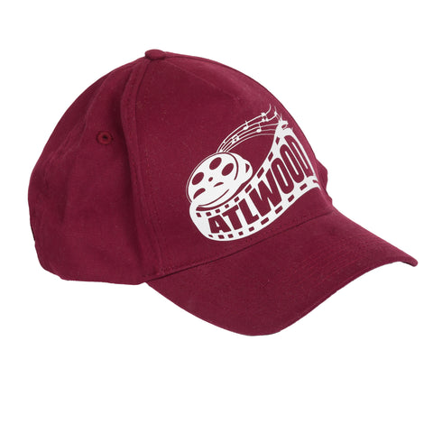 Maroon and white logo hat