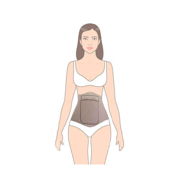 Girls Wearing Abdominal Compression Board