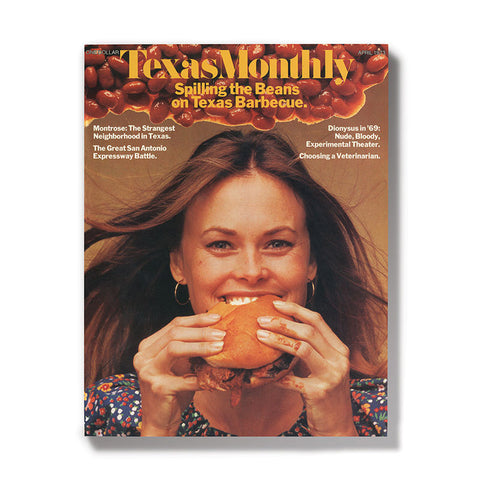 April 1973 Texas Monthly BBQ Cover