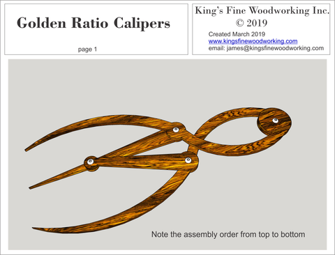 Plans for the Golden Ratio Calipers