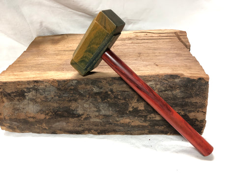 Mid Size Thor's Hammer Woodworking Mallet Lignum Head Redheart Handle