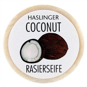 Haslinger Coconut Shaving Soap 60g